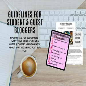 Blogging Guidelines for students and guest bloggers