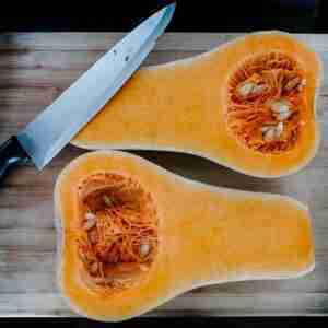 Roasted Butternut Squash with Mushrooms, Celery, & Onion